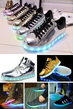 Collection of Fun Light Up Shoes for Parties & Dancing!