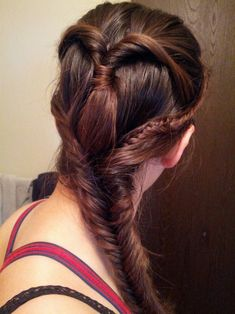 game of thrones inspired hair - flips with fishbone braid and microbraids