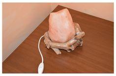 Lampada di sale realizzata con legno di mare!
