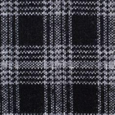 Black/Gray Tartan Plaid Wool Knit w/ Green Moss Lining Fabric by the Yard | Mood Fabrics