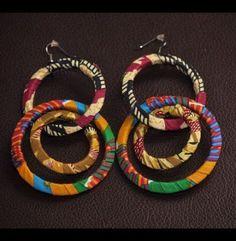 Ideas For Braids Afro Color Nigerian Weddings – Jewelry Textile Jewelry, Fabric Jewelry, Diy Jewelry, Jewelry Making, Jewellery, Fashion Jewelry, Fabric Earrings, Fabric Beads, Diy Earrings