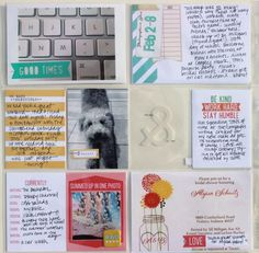 Project Life spread by Jenni Hufford using the exclusive Elle's Studio March kit