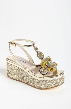 Miu Miu Flower Platform Sandal sooooo cute!
