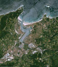 Hendaye, côte basque, France.