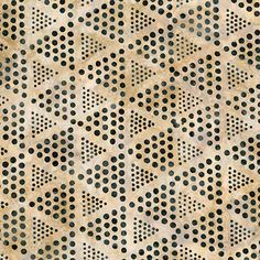 Robert Kaufman Concerto 3 Batiks Parchment Dotted Triangles