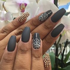 Cute Nails Color Polish Manicure Designs - Nails C Diy Ongles, Mandala Nails, Lines On Nails, White Nail Art, Dark Nail Art, White Lace Nails, Coffin Shape Nails, Nails Shape, Nagel Gel