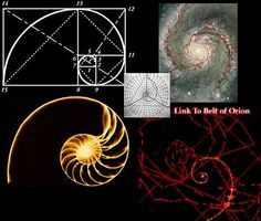 It all ties into the Golden Ratio, the spiral of space....