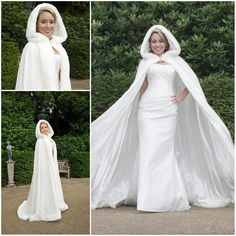 2015 Luxury Bridal Winter Coat Wraps/Jackets Winter Bridal Cape Faux Fur Wedding Coat/Suit Hooded Cold Weather Wedding/Bridal Cloaks Abaya From Cc_bridal, $76.97 | Dhgate.Com