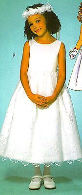 OOP Girls Communion Dress Flower Girl Gown Sewing Pattern 2 5 Butterick 4117 | eBay