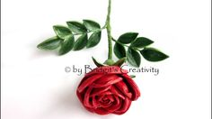 Quilling Rose (Part 1) paper flower
