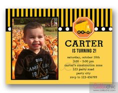Dump Truck Birthday Invitation PRINTABLE with Photo  by CallaChic, $14.00
