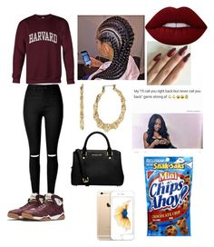 """Dropped outta school now we dumb rich#appliedtoHARVARDandwedumberandricher"" by awesomejaz-i on Polyvore featuring Betsey Johnson, MICHAEL Michael Kors, Lime Crime and applied"