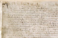 Detail of one of the British Library's copies of the 1215 Magna Carta (London, British Library, MS Cotton Augustus II Carta Magna, Lincoln Cathedral, Salisbury Cathedral, Learning Sites, Essay Contests, Medieval World, Essay Topics, British Library, Rey