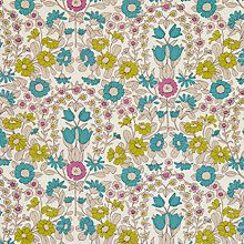 Buy John Lewis Daisychain PVC Tablecloth Fabric, Citrine / Teal Online at johnlewis.com