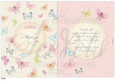 Προσκλητήριο βάπτισης πεταλούδες Christening, Bullet Journal