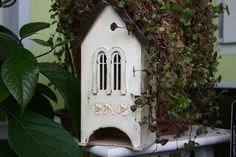 """Купить Чайный домик """"Модистка"""" - белый, коричневый цвет, Декупаж, чайный домик, ретро"""