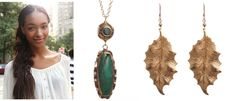 Going for natural and fresh-faced? Try the Tibetan Turquoise Pendant Gold #Necklace http://www.ktcollection.com/item/GN191/tibetan-turquoise-pendant-gold-necklace/ and the Gold Holly #Leaf #Earrings http://www.ktcollection.com/item/GE105/gold-holly-leaf-earrings/ for an earthy, indie look. #handmade #jewelry