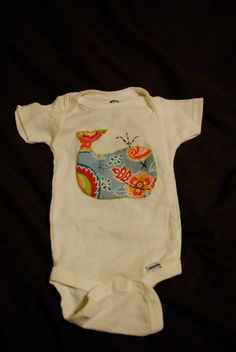 Baby Girl Whale Onesie