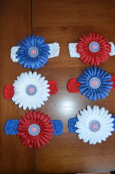 Create your own Chicago Cubs baby headband. $5.00, via Etsy.