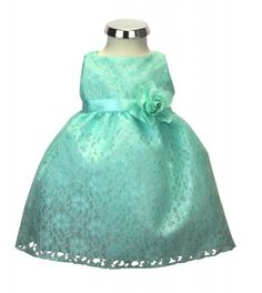 b86951110e73a1 BIMARO Baby Mädchen Babykleid Nelly mint grün Kleid Taufkleid Spitzenkleid  Blumen Taufe Hochzeit festlich Festkleid Spitze