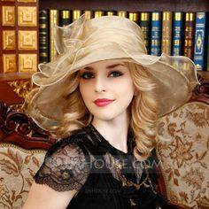 [AU$52.00] Ladies' Beautiful Organza With Bowknot Floppy Hat