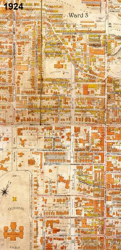 Goad Atlas fire insurance map showing the area between Yonge St and Queen's Park/Avenue Rd from near College St to Davenport Rd in 1913