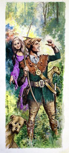 Robin Hood and Maid Marian (Original) art by Ernest Ratcliff   Art  Robin Hood & His Merry Men  Sherwood Forest  Serafini Amelia