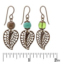 Vintage Leaves Earrings | Fusion Beads Inspiration Gallery