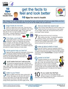 """10 Tips: """"Get the Facts to Feel and Look Better"""" tips"""