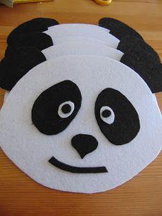 Piscosidades: Pandas de feltro (preparativos para a festa Panda ...