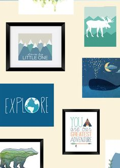 Nursery wall art, phone cases, onesies, more- all designed by independent artists!