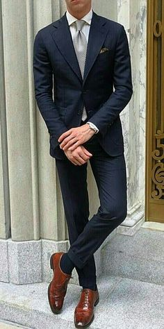 The Blue Suit Collection Blue Suit Men, Navy Blue Suit, Blue Suits, Mens Fashion Suits, Mens Suits, Stylish Men, Men Casual, Suit Combinations, Moda Formal