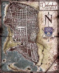 Image of Waterdeep City Map (Digital Download)