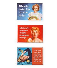 Another great find on #zulily! Diet Magnet Set #zulilyfinds