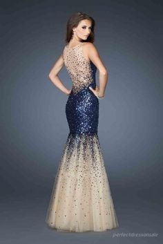 Natural Mermaid Prom Dresses Tulle Royal Blue Prom Dresses 06244