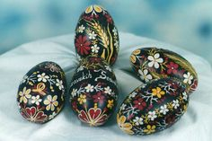 Decorated Croatian Easter eggs from Podravina (made by Josip Cugovcan). Croatian intangible cultural heritage. / Pisanice iz Podravine, hrvatska nematerijalna kulturna baština.