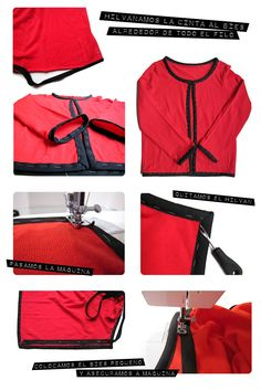 chaqueta tipo chanel diy1 Cómo achanelar un cárdigan básico. #DIY