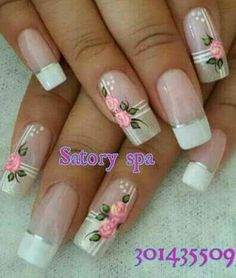 Ideas nails art sencillo 2018 for 2019 Pretty Nail Designs, Toe Nail Designs, Nails Only, Trendy Nail Art, Super Nails, Fancy Nails, Flower Nails, Nail Tutorials, Spring Nails