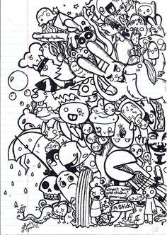 Cute Doodle Art, Doodle Art Designs, Doodle Art Drawing, Drawing Drawing, Drawing Ideas, Graffiti Doodles, Graffiti Cartoons, Kawaii Doodles, Cute Doodles