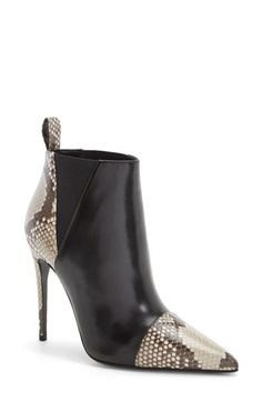 Gucci 'Daisy' Pointy Toe Genuine Python & Leather Bootie (Women) available at #Nordstrom