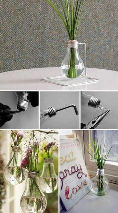Pour faire un vase suspendu ou même une lampe à l'huile