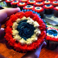 """""""Vive la France Cupcakes,"""" based on the cockades worn by Les Amis de l'ABC in Les Miserables."""