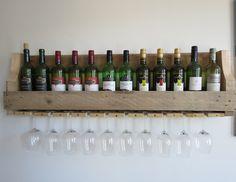 Houten wijnrek voor in de keuken