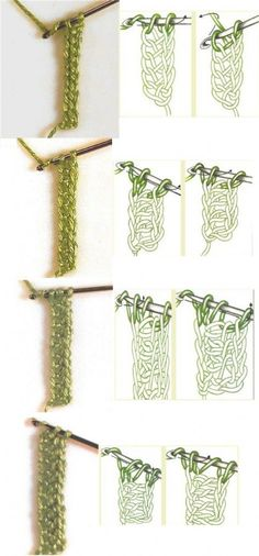 Photo showing how to do different crochet foundation chains