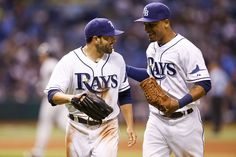 The Rays new outfielder, David Dejesus, went 1 for 3 with a run scored. He hit a double in his 2nd at bat & made it memorable by tripping & falling when he went around 1st base. In the 7th he made a newsreel running catch against the leftfield wall to end the inning which if not caught could have changed the game's momentum. Rays power past Yankees 7-2  (8-23-13).