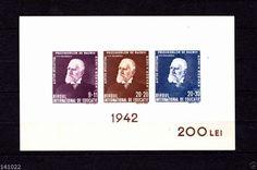 1942 Romania stamp block Michel nr.19(128x81mm) 200 lei
