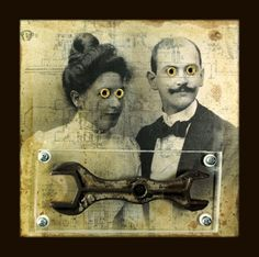 Mixed Media Collage Art | The Mirthful Mixed Media Collage Assemblages of Greg Hanson