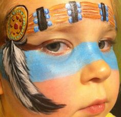 Face Paint - Perfect Indian Head Band and Feather