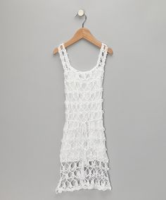 LOVE THIS!!! Can't wait for Ireland to wear it!  H. Maude White Knit Tie Dress - Toddler & Girls