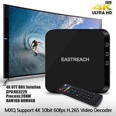 EASTREACH Andriod 4.4 TV Box 4K Rockchip Rockchip RK3229 Quad Cortex-A7 Android TV Box